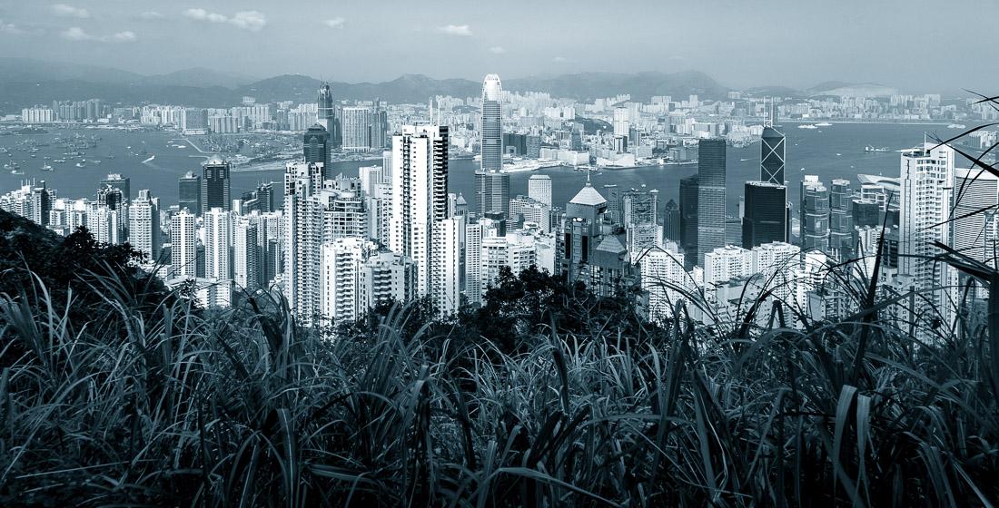 Hongkong, utsikt från Victoria Peak