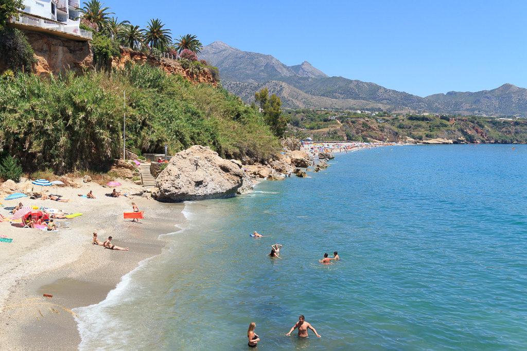 Burriana, strand, Nerja
