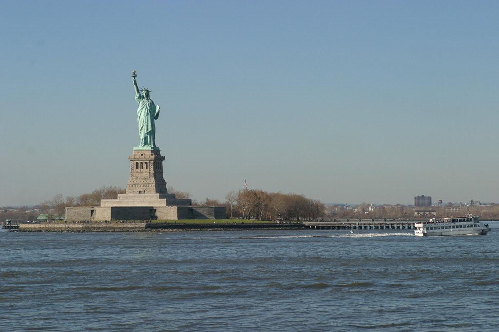 Frihetsgudinnan, Liberty Island