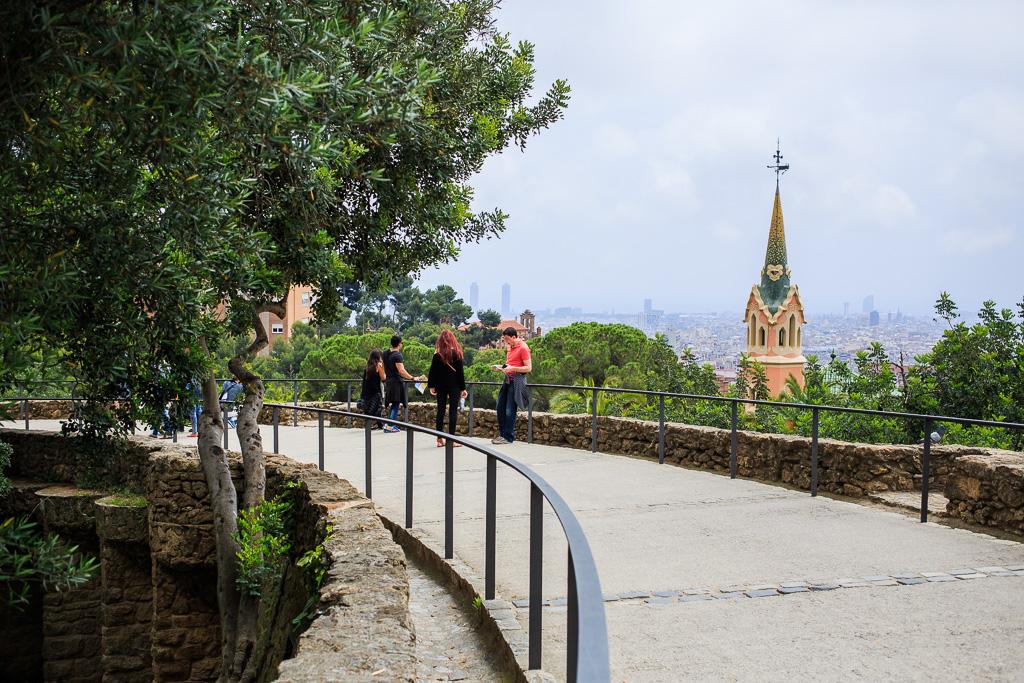 Utsikt över Barcelona från Park Guell