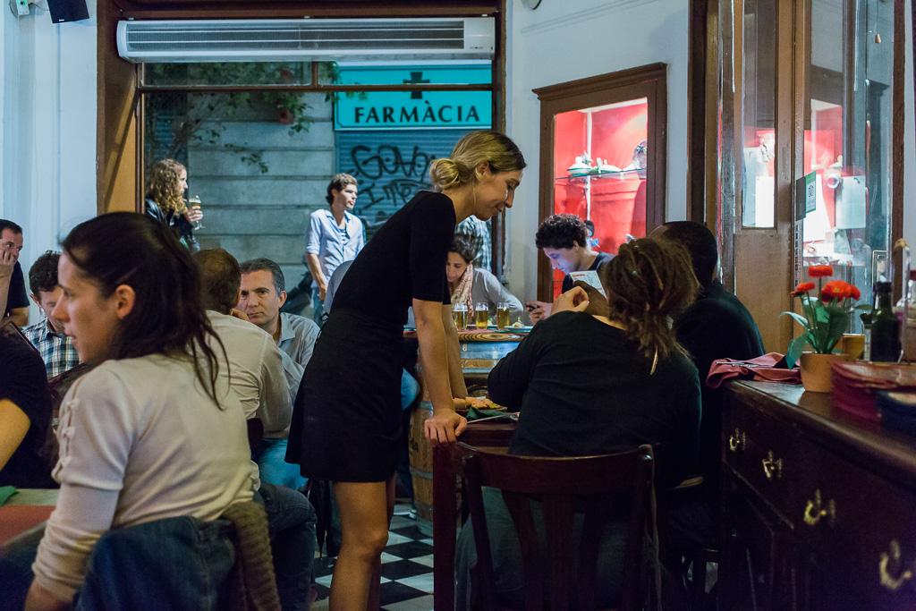 Tapas, restaurang, Barcelona.