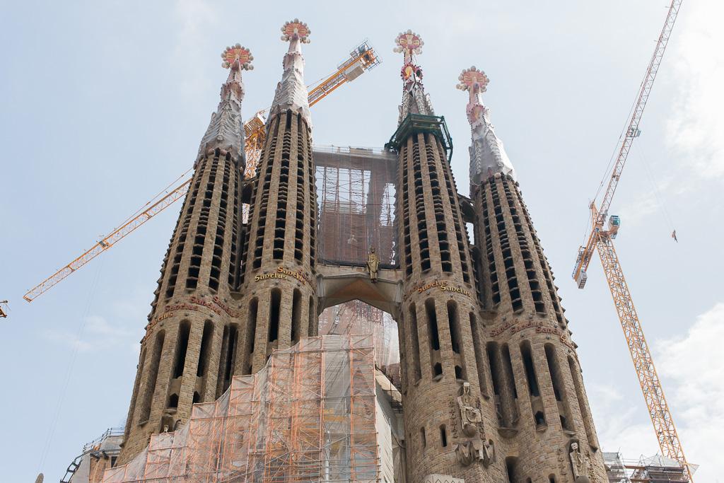 Sagrada Familia byggs fortfarande i Barcelona