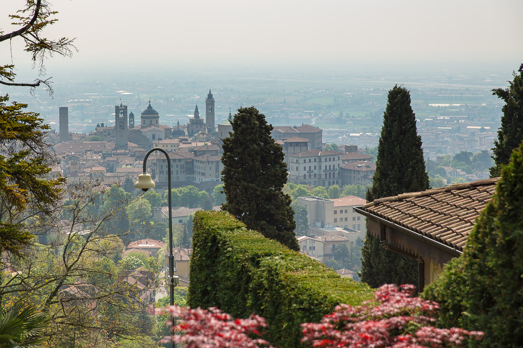 Utsikt över Cita Alta, Bergamo
