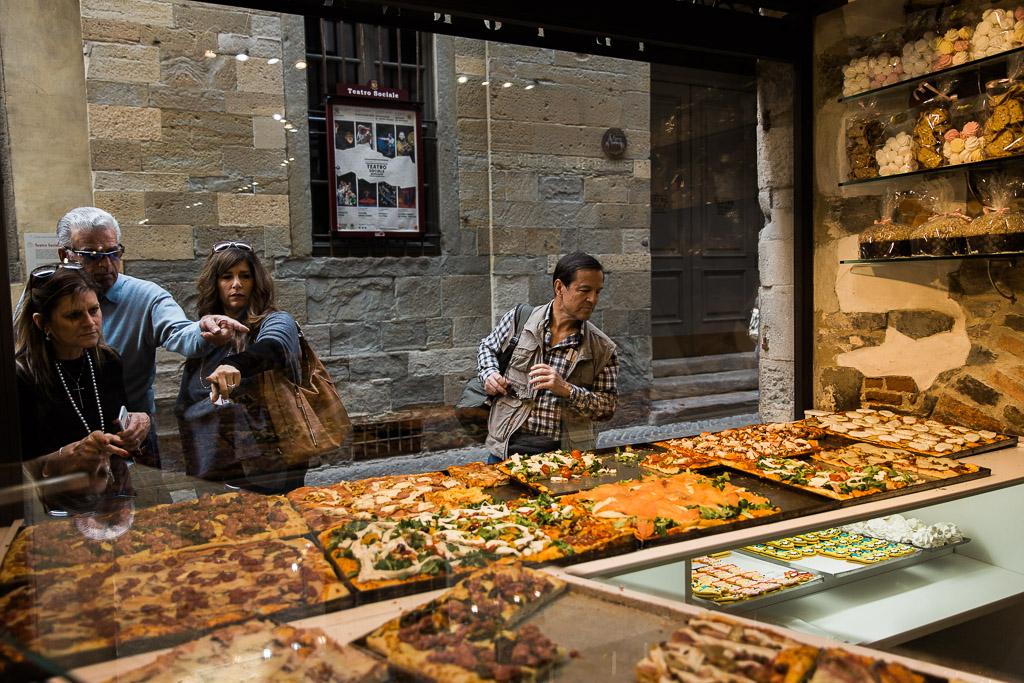 Pizza och delikatesser, Bergamo