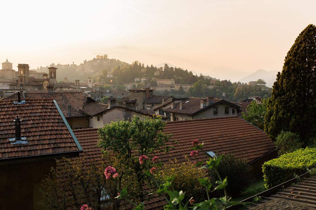 Kvällsdis i Bergamo