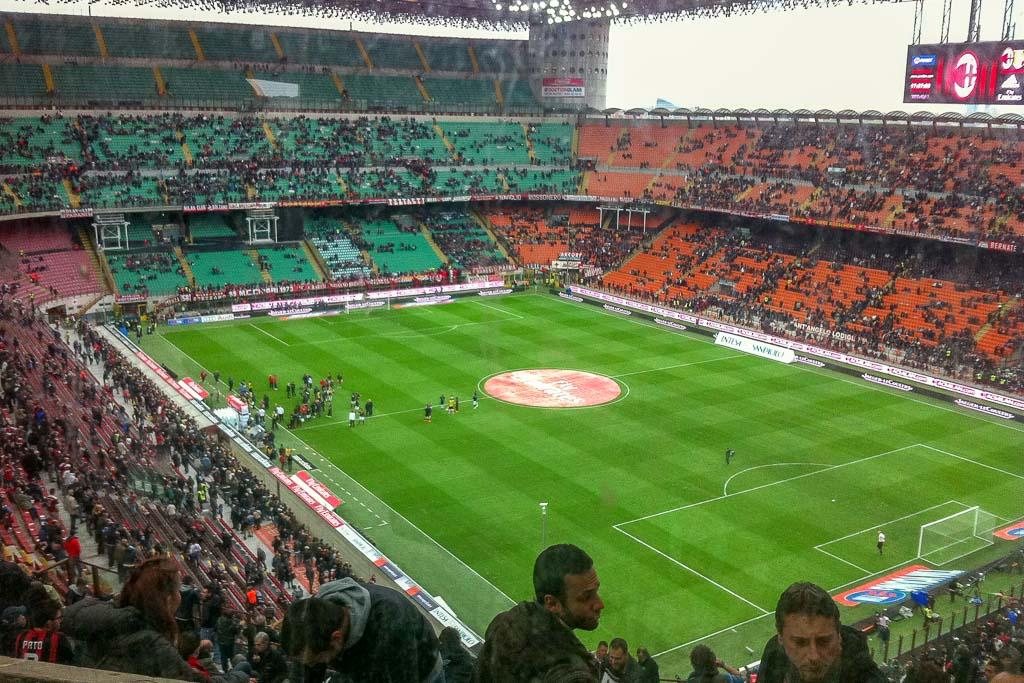 Fotboll Inter och Milan i Milano