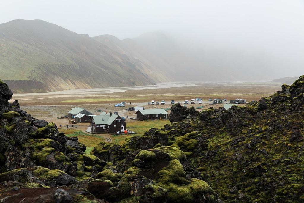 Bo i lodge i Landmannalaugar