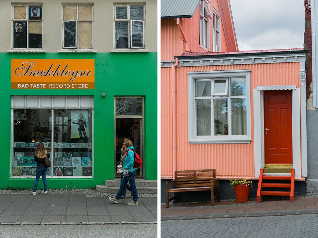 Färgglada hus i Reykjavik