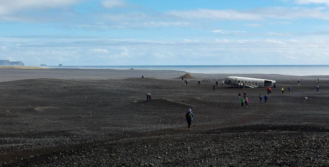 Flygplansvrak, Island