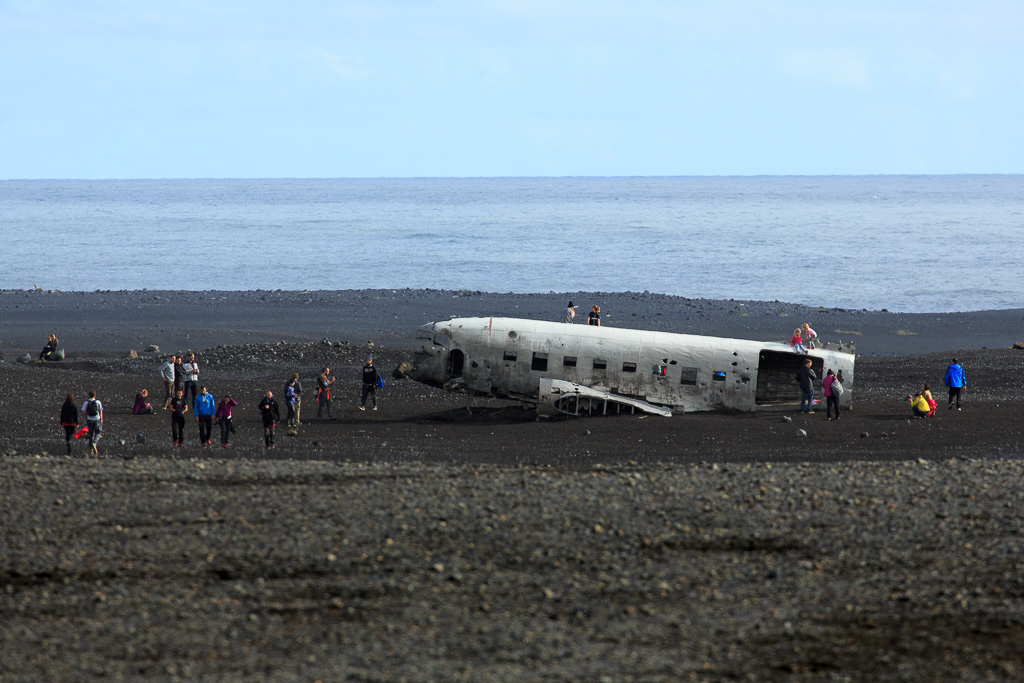 Kraschat flygplan, Island