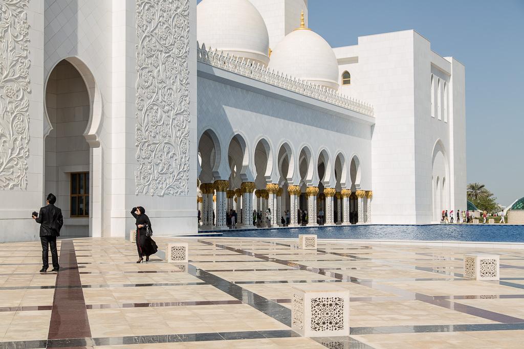 Exteriör, Sheikh Zayed Moskén, Abu Dhabi