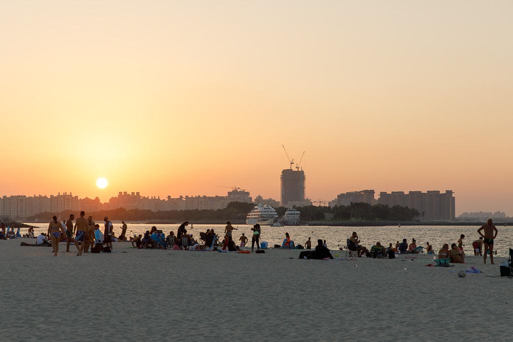 Solnedgång i Al Sufouh