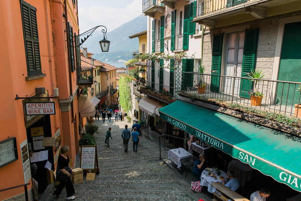 Butiker och restauranger i Bellagio