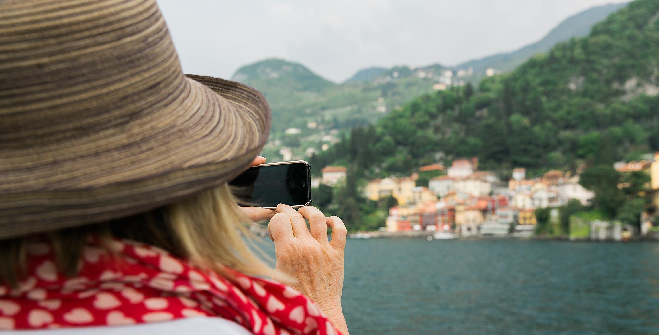 Resa till Comosjön, Italien
