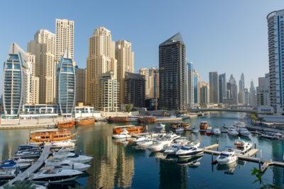 Utsikt över Dubai Marina