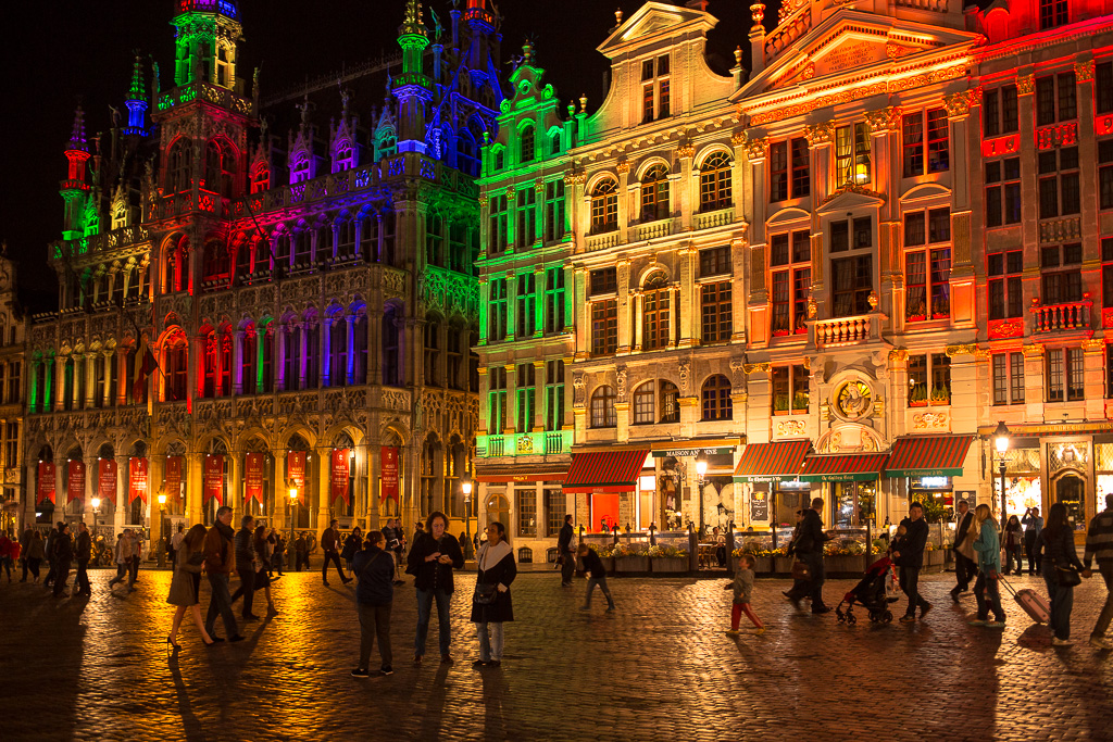 Grand-Place, belysning, Bryssel