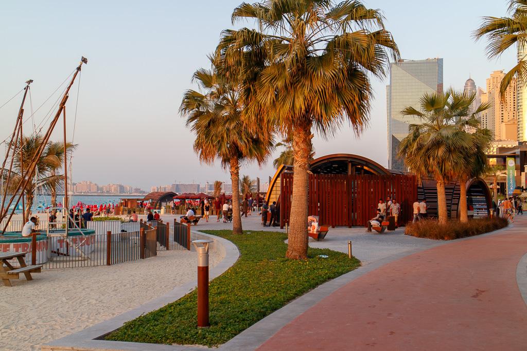 Faciliteter på JBR-stranden