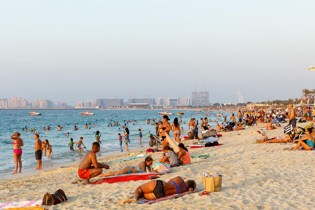 JBR-stranden i Dubai