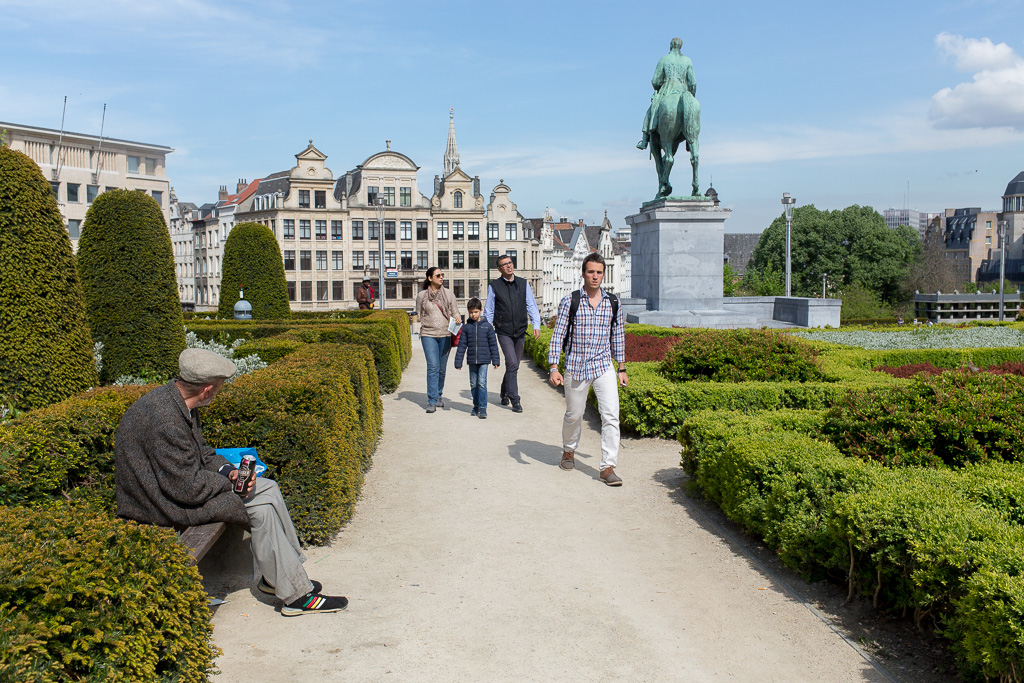 Jardin du Mont des Arts, Bryssel