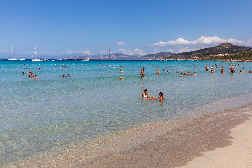 Stranden i L'Ile Rousse, Korsika