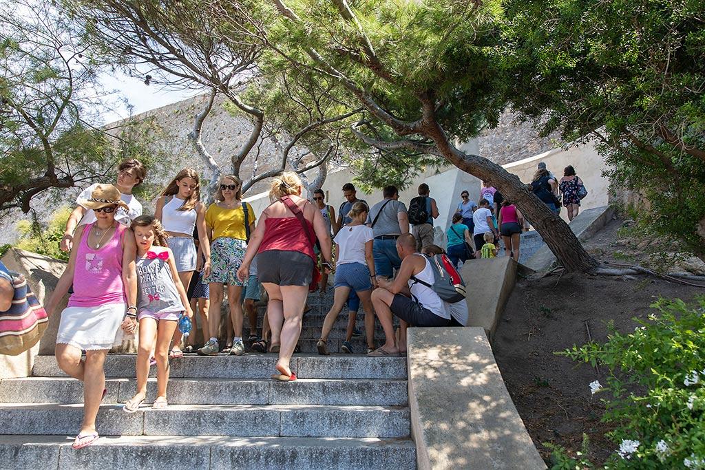Besök i citadellet i Calvi