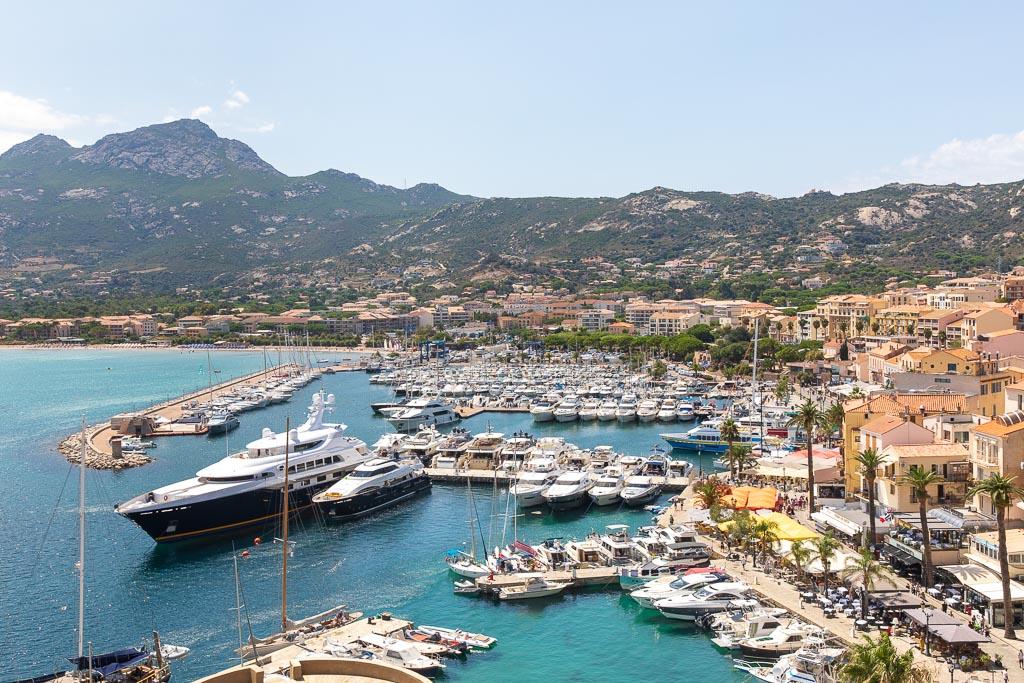 Utsikt över Calvi, Korsika