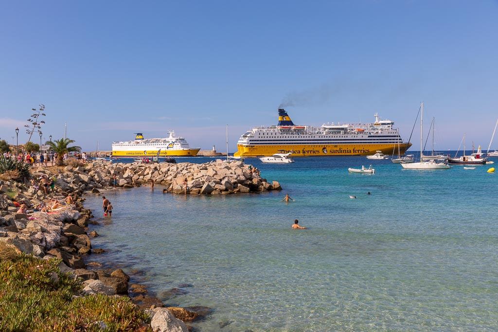 Färja mellan Nice och Ile Rousse, Korsika