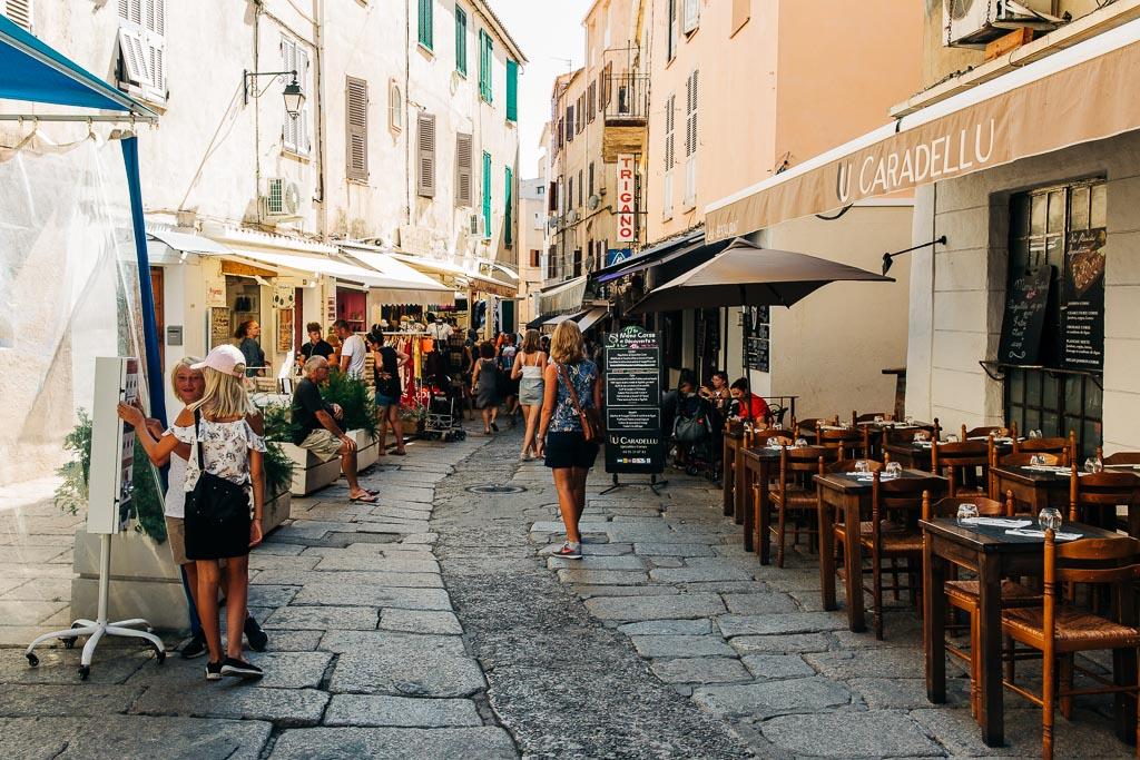 Shoppinggator i Calvi, Korsika