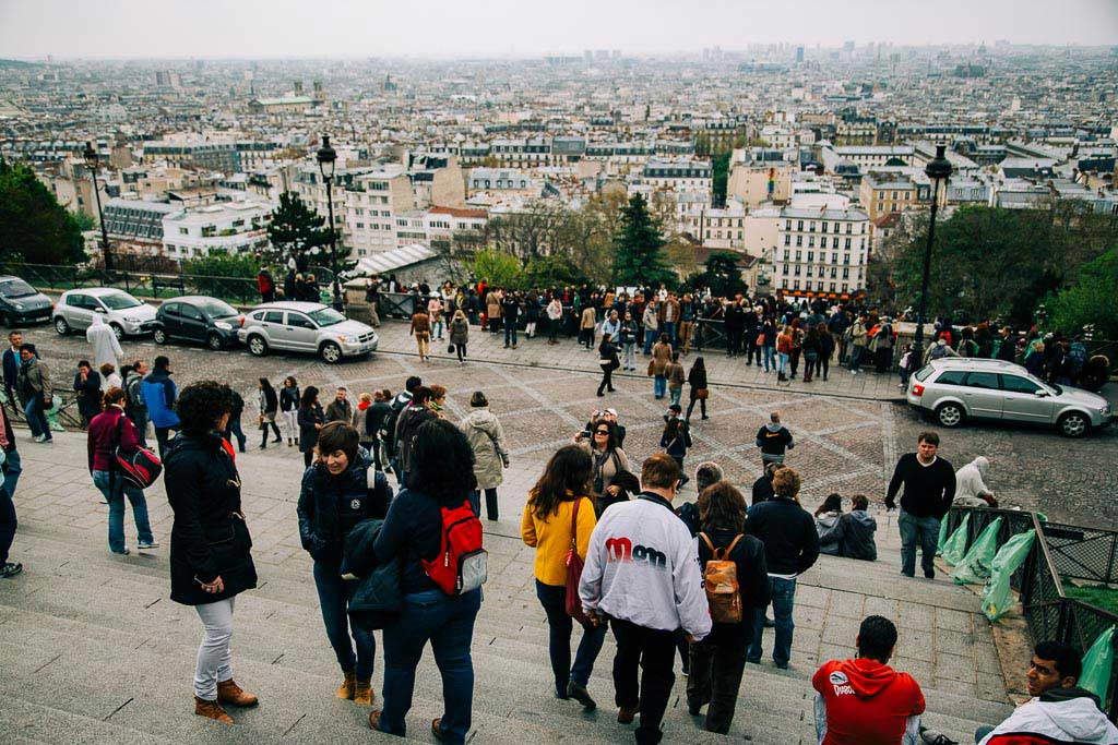 Utsikt från Sacre Coeur i Paris