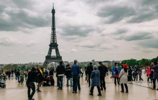 Utsikt över Eiffeltornet från Trocadero