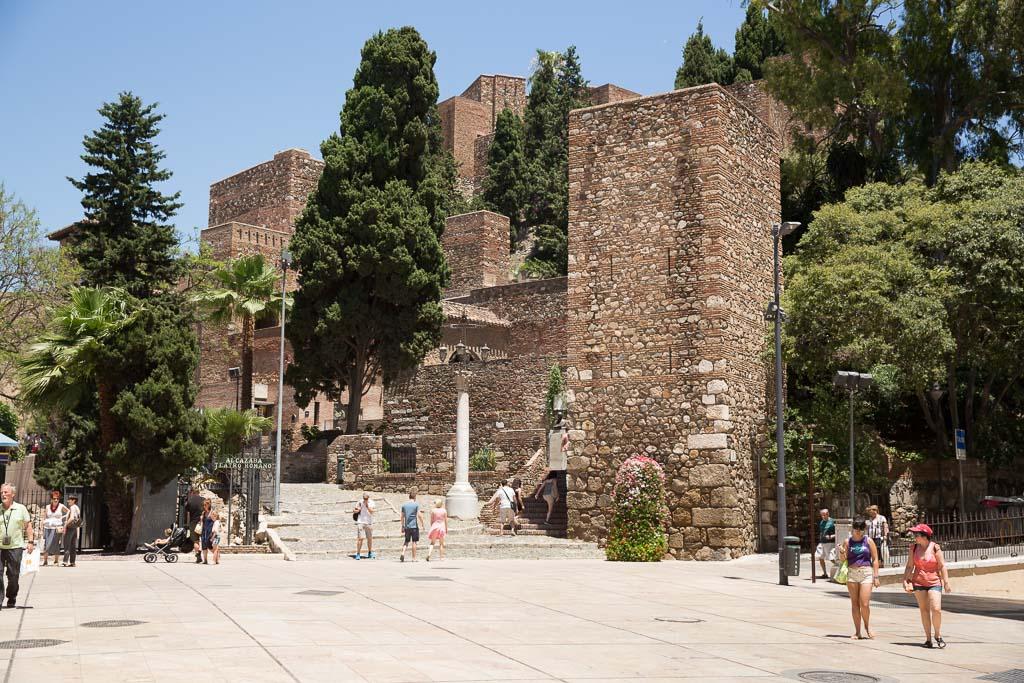 Entrén till Alcazaba i Malaga