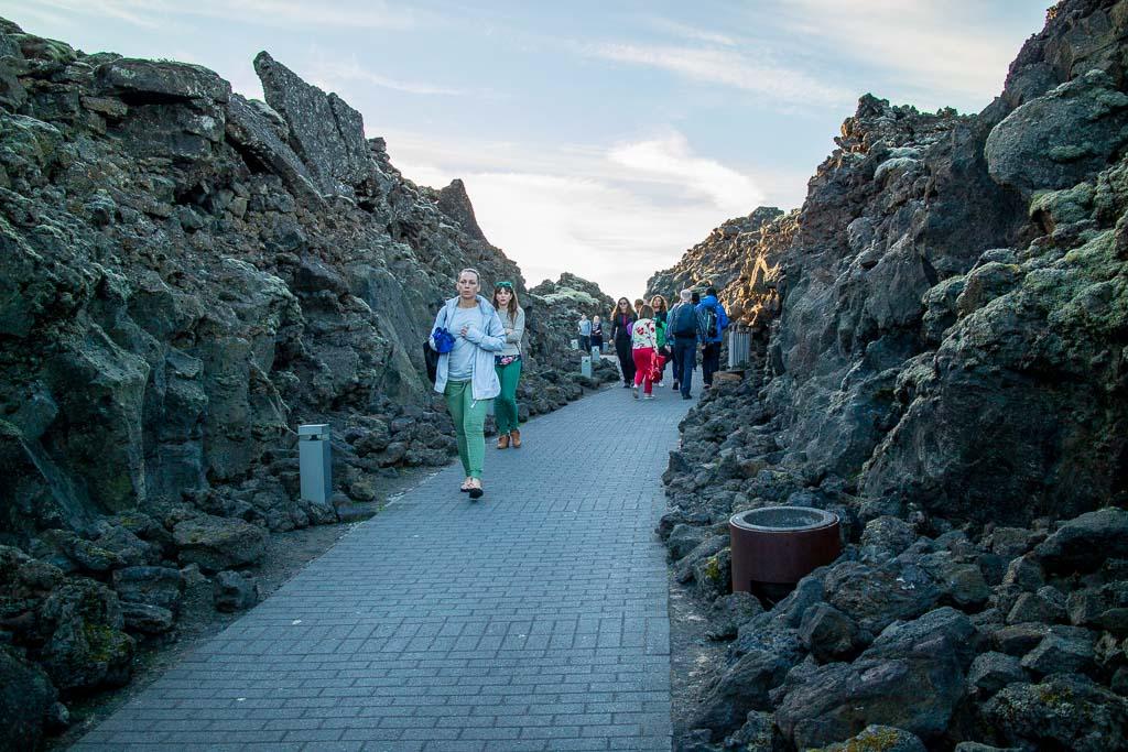 Blå lagunen i lavafält, Island