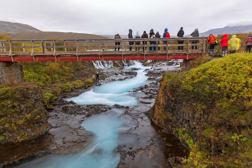 Bro vid Bruarfoss på Island