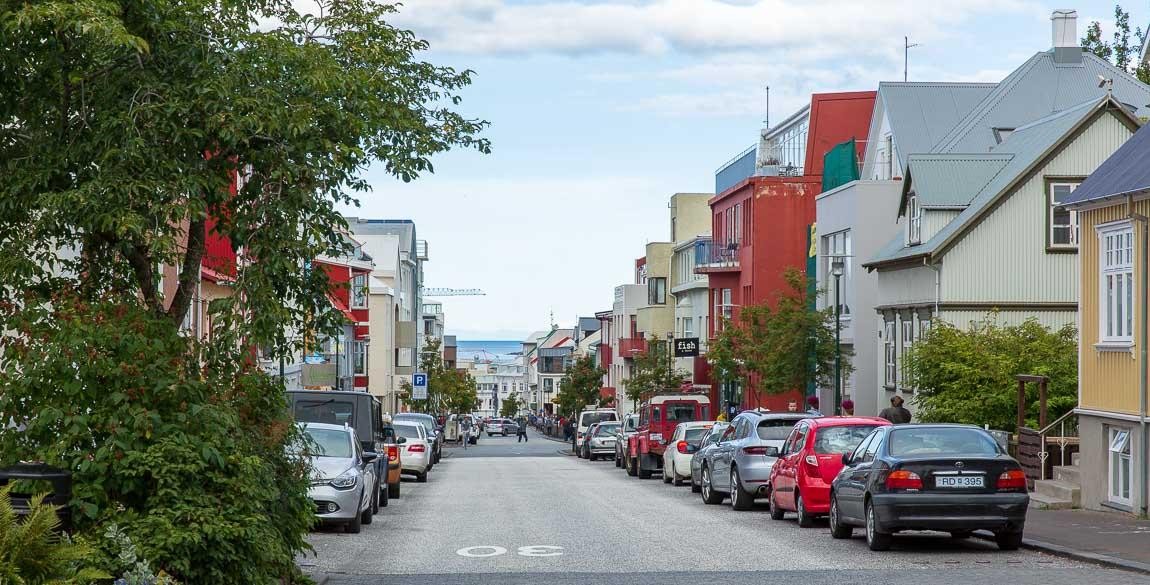 Gata i Reykjavik på Island