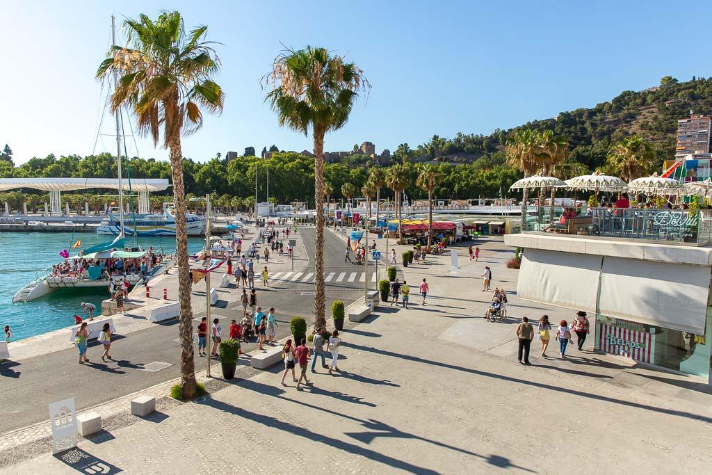 Muelle Uno, strandpromenaden i Malaga