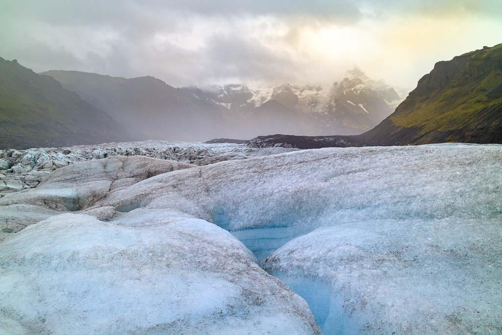Glaciärvandring på Solheimajokull Island