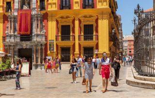 Stadsliv i Malaga