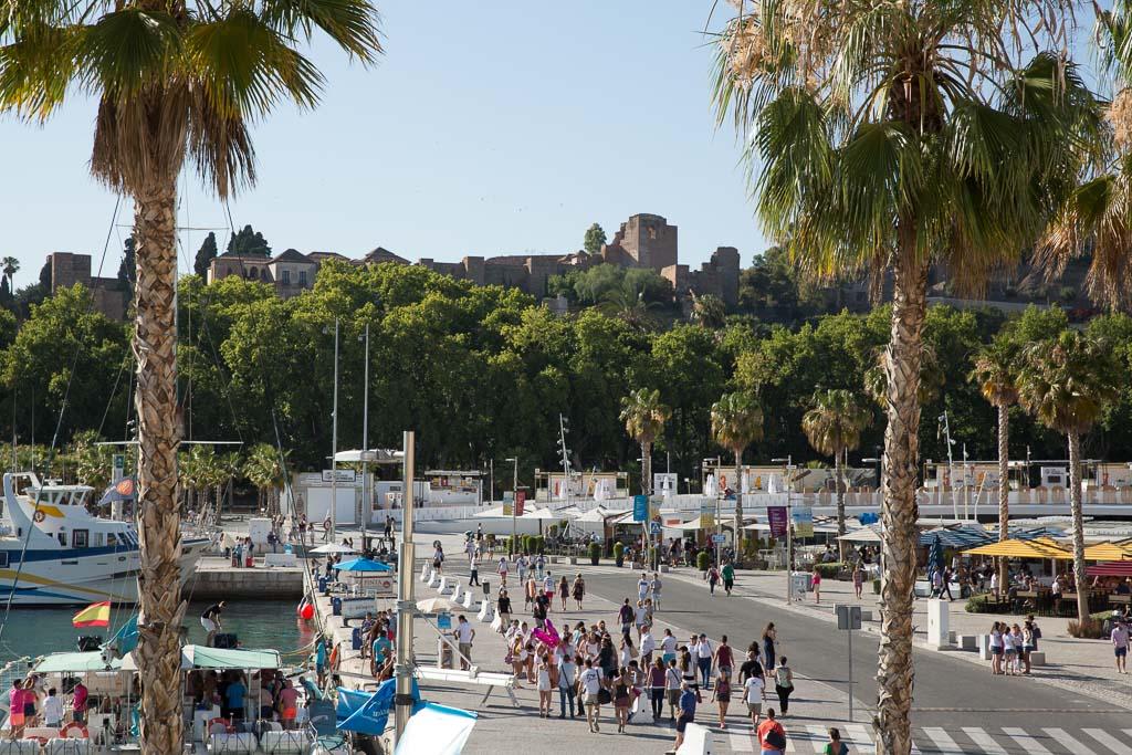 Strandpromenaden, Alcazaba, Malaga