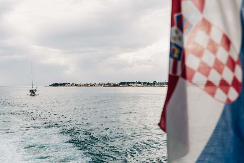 Utsikt från färja i Zadar