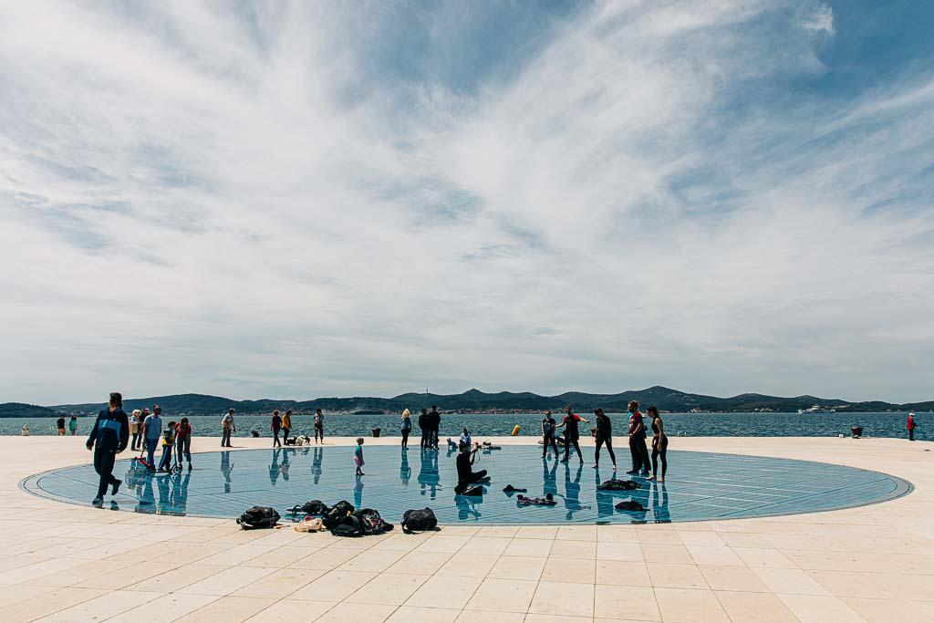 Konstverket hyllning till solen i Zadar