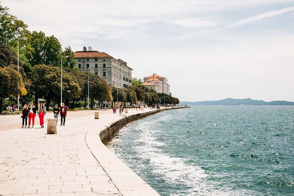 Strandpromenad i Zadar