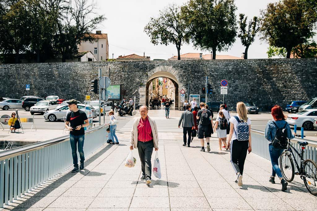 Port till Zadars gamla stad