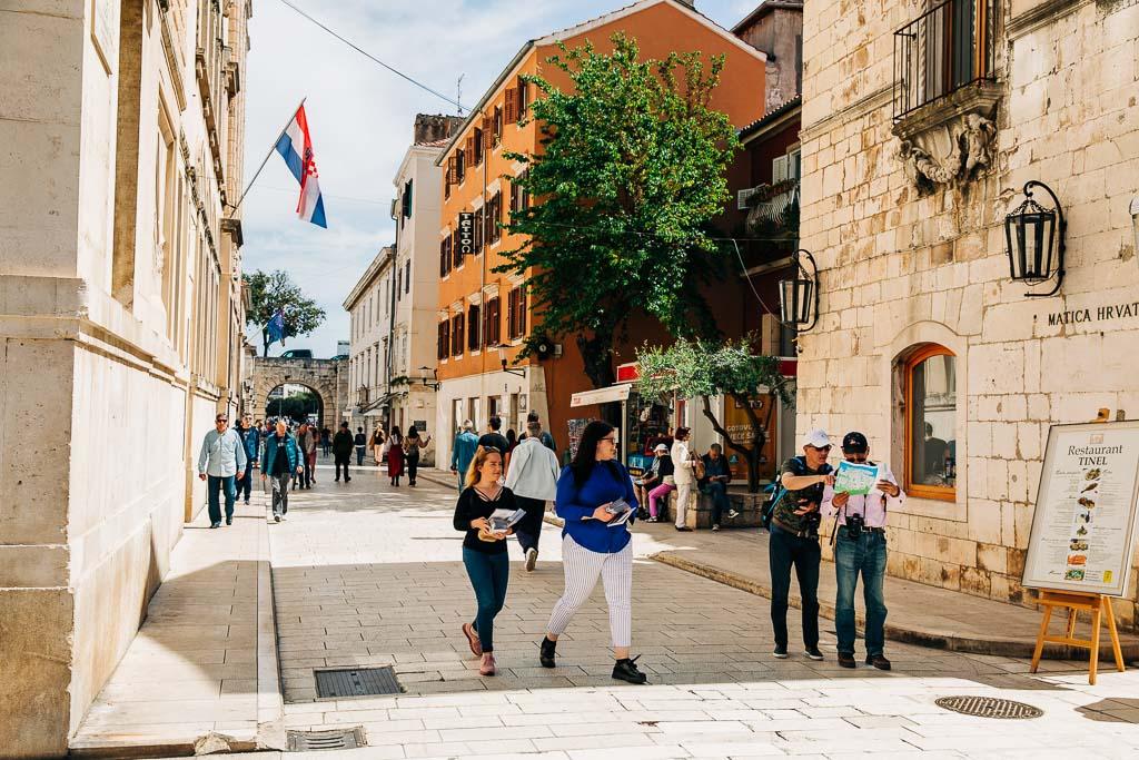 Promenad i Zadars gamla stad