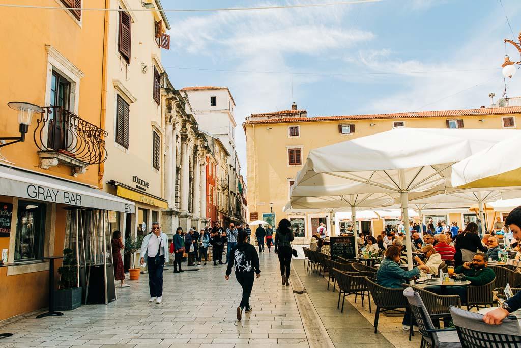 Uteservering i Zadar